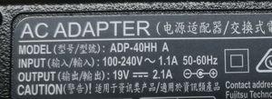 LIEF BOOK UH75 AC アダプタ