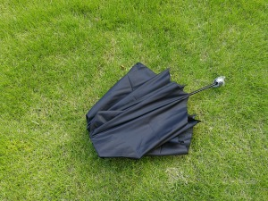 折り畳み傘 二つ折りした状態