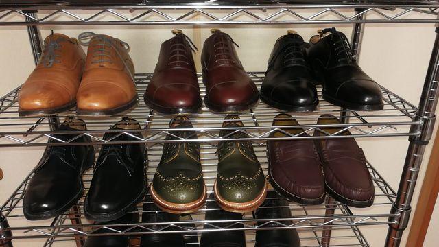 僕の革靴収納術!☆メタルラックは靴の整理に最適です